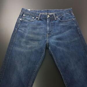 LEVI-039-S-504-jean-Homme-W31-L34-bleu-fonce-Regular-Fit-Straight-High-Rise