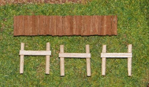 Großer Steg Bootssteg Angelsteg Handarbeit aus Holz Spur N 1:160