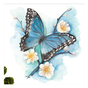 Details About Diy 3d Diamond Wall Painting Colorful Butterfly Flower Decoration Home Bedroom