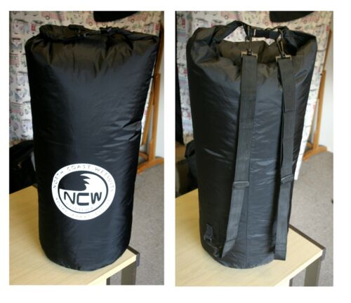 85 L light waterproof dry bag. Rucksack straps.Good for quick submersions