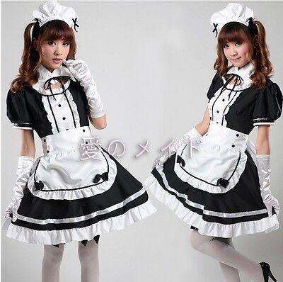 Maid dress cosplay maid costume sexy lolita apron dress set Apron Outfit Girl