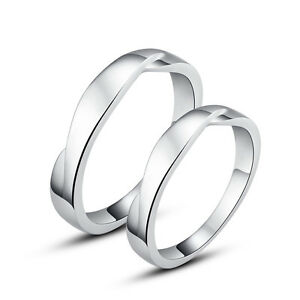 2d4f8c0ed6d66 Details about His & Hers Rings Sterling Silver Couple Promise Rings Wedding  Rings Nickel Free