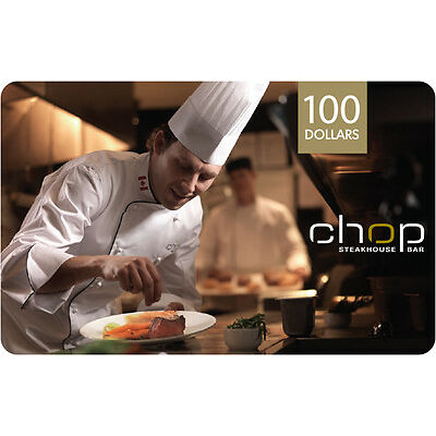 Chop Restaurant Gift Card- $100 Mail Delivery