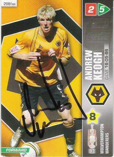 A Panini 2008 card. Personally signed by Andrew Keogh of Wolves.