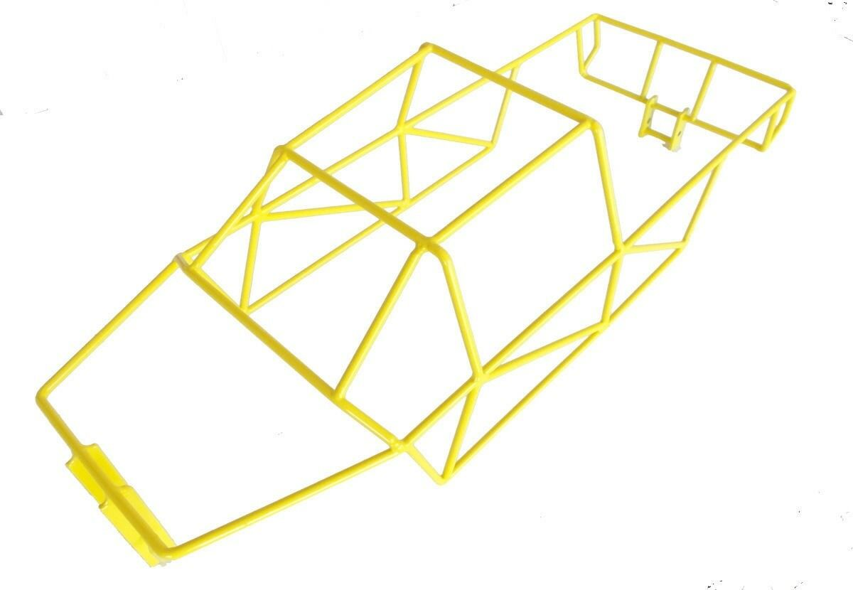 T-Maxx 4908 or 4907 Stainless Steel Yellow Powder Coated Full Roll Cage NEW