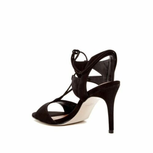 Steve Chaussures daim à à en 5 plume 715924832605 en 9 talons lacets pour Madden femmes cuir noires r1qwBr
