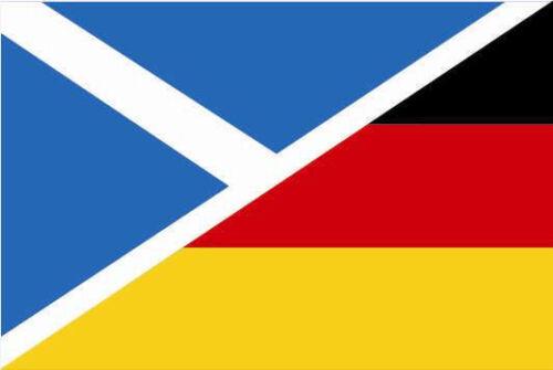 Aufkleber Schottland-Deutschland Flagge Fahne 8 x 5 cm Autoaufkleber Sticker