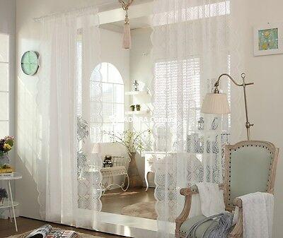 Antique Lace Sheer Curtain (WHITE)  150(W) x 230(L) cm