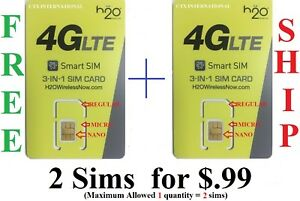 H20-4G-LTE-Triple-Sim-Card-Nano-Micro-and-Mini-H2O-For-AT-amp-T-amp-Unlocked-phones