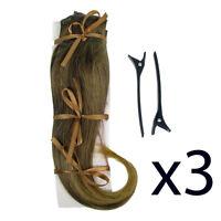Hair Extensions Clip In 2 Piece Ken Paves Hairdo Dark Blonde Fashion 16 X3