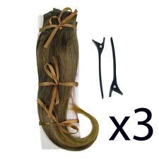 """Hair Extensions Clip In 2 Piece Ken Paves Hairdo Dark Blonde Fashion 16"""" x3"""