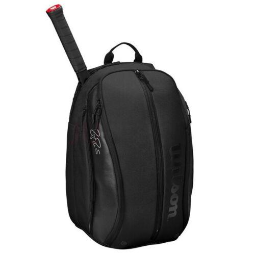 Wilson Roger Federer DNA Tennis Backpack Black Gym//Badminton//Squash WR8005302001