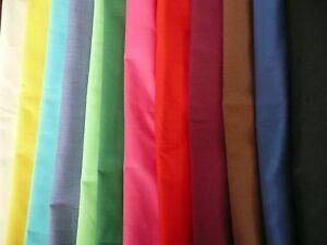 Plain-Polycotton-Fabric-Poplin-112cm-70-Polyester-amp-30-Cotton