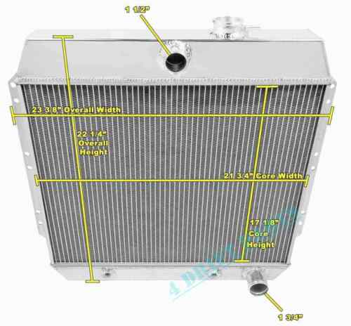 FIT 1951-54 CHEVY Styleline Deluxe Pickup V8 ENGINE ALL ALUMINUM RADIATOR 3 Rows