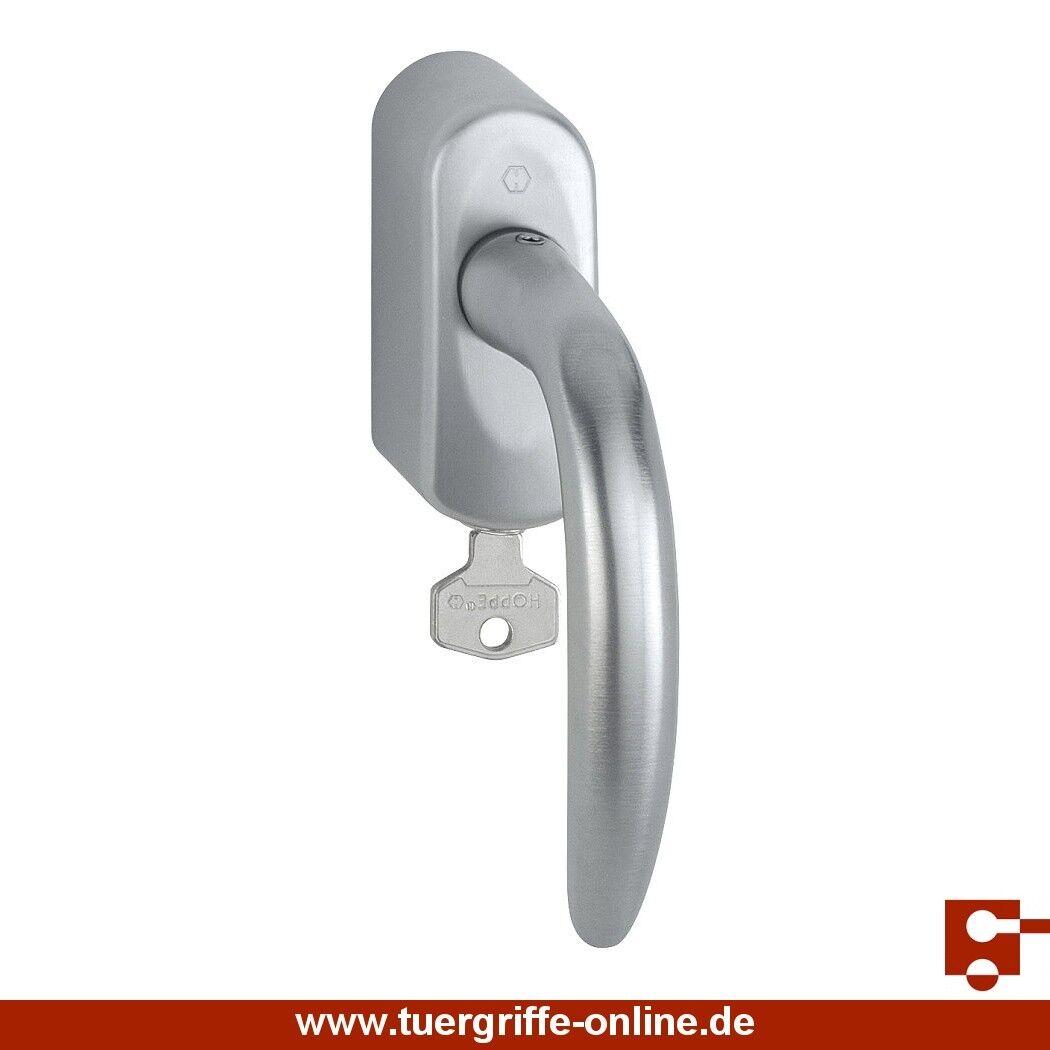 Hoppe Fenstergriff Atlanta abschließbar Chrom satiniert M1530/US950S32 Schlüssel