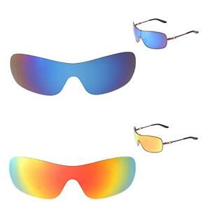 0fabd51ce1 Image is loading Walleva-Fire-Red-Ice-Blue-Polarized-Replacement-Lenses-
