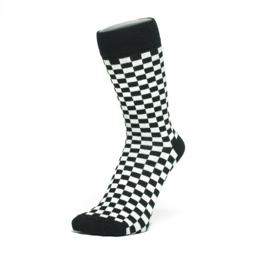 Small Checked Design Ankle Socks Size: 6-11