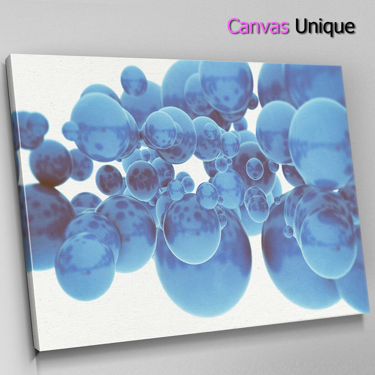 AB1748 Blau 3d bubbles modern Abstract Wall Art Picture Large Canvas Print