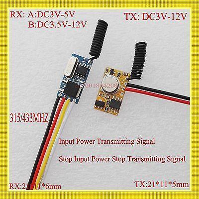Mini Remote Control Switch Micro Receiver Transmitter Module 3.7V 5V 6V 9V TX RX