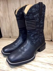 3c882c9a00dd7 Ariat Men's Sport Patriot Black Square Toe Western Boots 10023361 | eBay