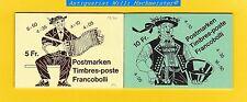 Postmarken** - Markenheftchen 1984/85 - 5 u.10 Fr. - SBK.78b/80//Zumstein 57/58