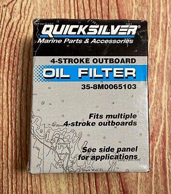 Quicksilver Oil Filter Ölfilter 35-8M0065103 Mercury Mariner Yamaha Honda 4-Takt