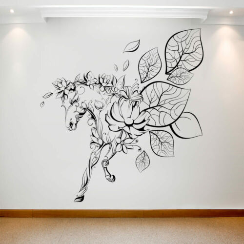 Large Wall Decal Sticker Art Removable Vinyl Transfer Horse Silhouettes Flowers