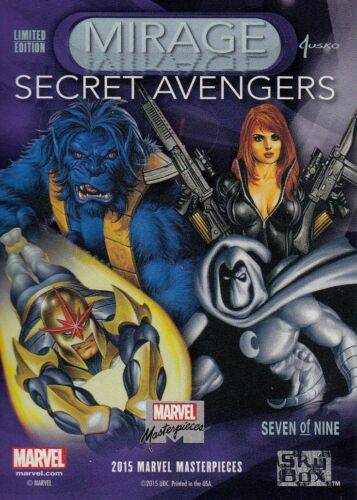 SEVEN of 9 1//Case ~ 100 2016 Marvel Masterpieces MIRAGE #7 SECRET AVENGERS