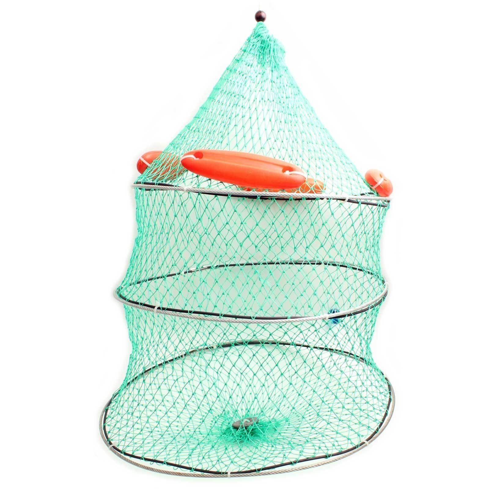 Foldable Fish Mesh Cage Fishing Keep Net Fish Net Diameter 50cm