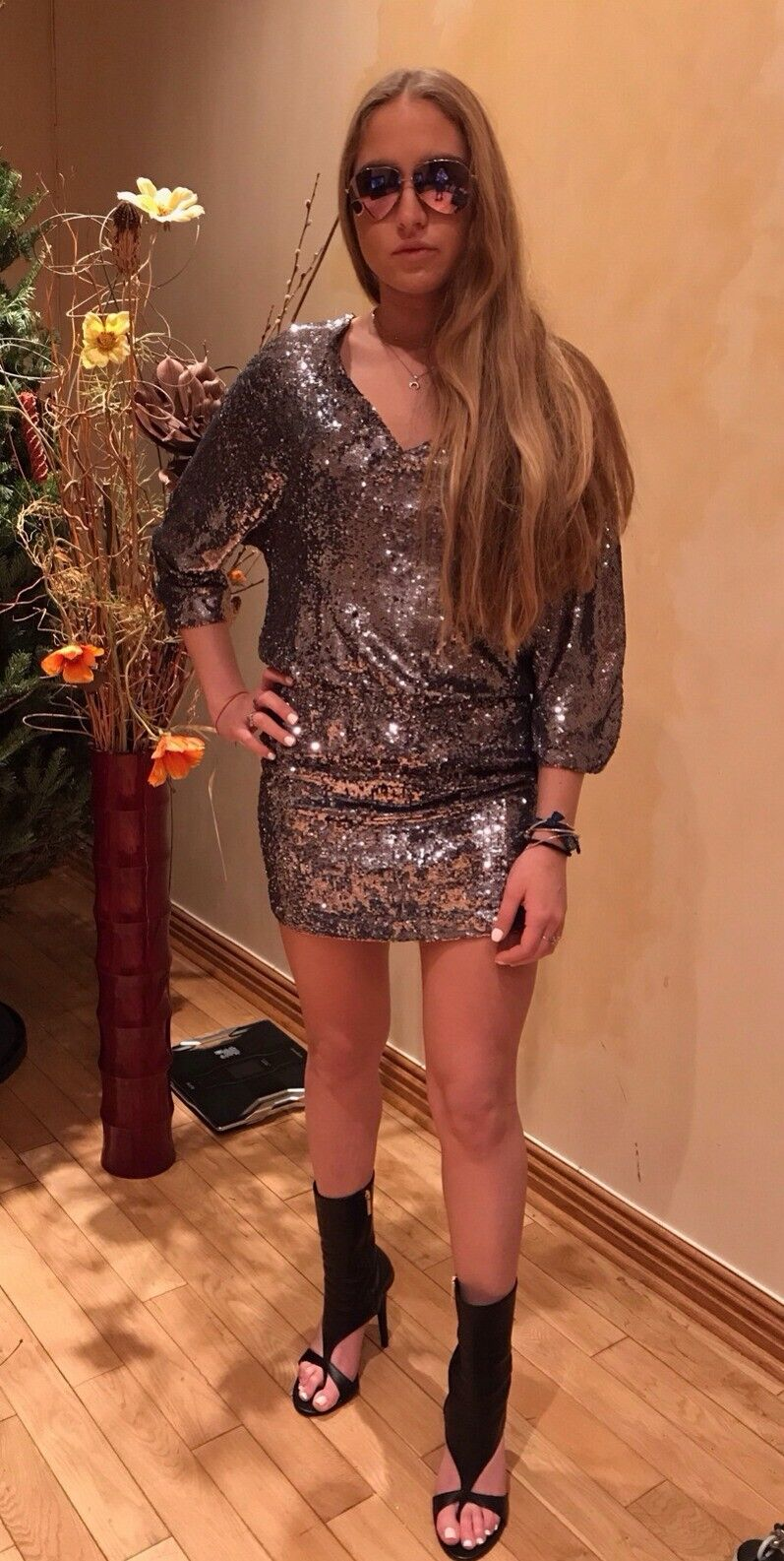 Haute Hippie Sequin Dress, Storlek XS, ny With Tags  795