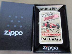 Zippo-Legendary-Raceways-Est-1932-Oldtimer-Rally-Nose-Art-Big-Blocco-US-Auto-V8