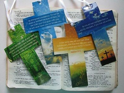 23 Religious CROSS BOOKMARKS Christian VBS FREE SHIP crosses bookmark