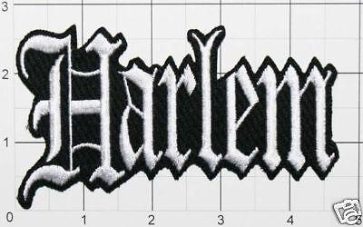 Harlem Patch New York Old English Script