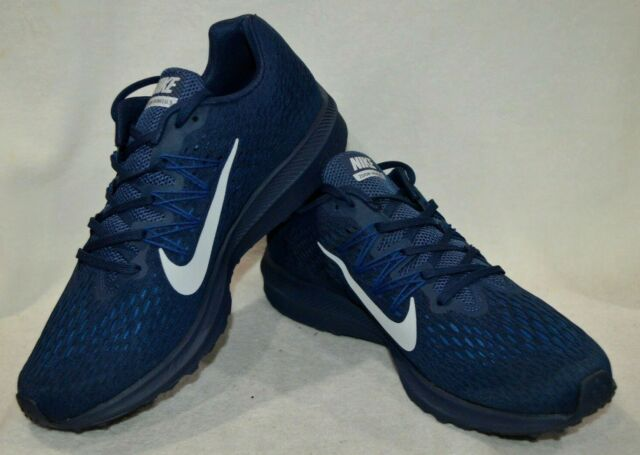 meet 6c826 9e7a2 Nike Men's Zoom Winflo 5 Midnight Navy/Platinum Running Shoes-Assorted  Sizes NWB