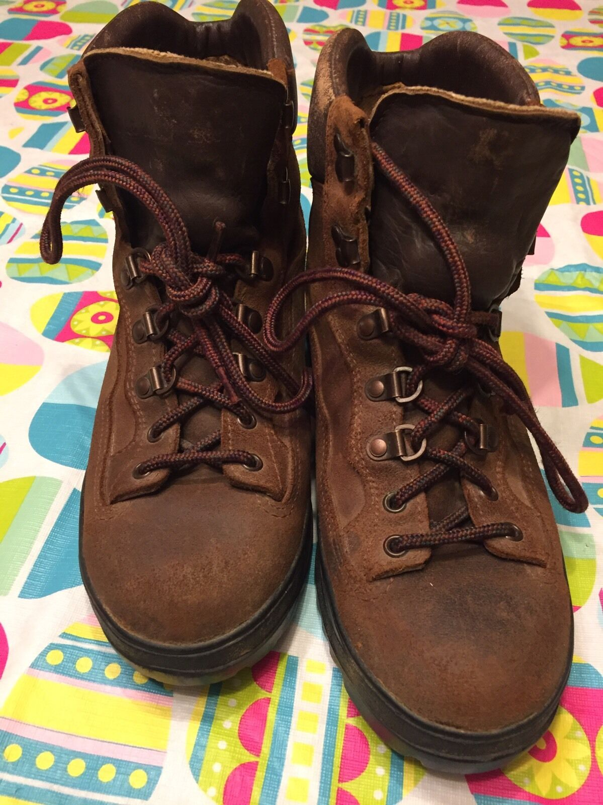 VINTAGE DANNER GoreTex GoreTex DANNER DISTRESSED USA ENGINEER LEATHER BROWN Hiking Stiefel 9.5 EE 025ce7