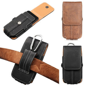 Cellphone-For-iPhone-Samsung-Leather-Carrying-Pouch-Case-Belt-Clip-Holster-AU