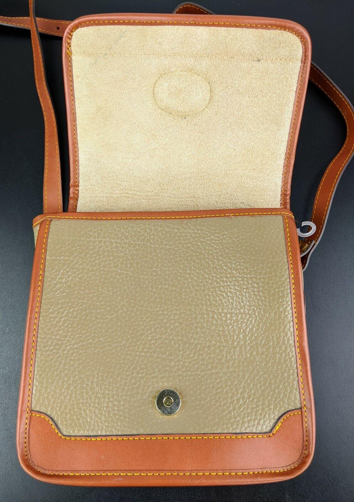 Dooney & Bourke Tan Brown Small Purse Handbag Tra… - image 5