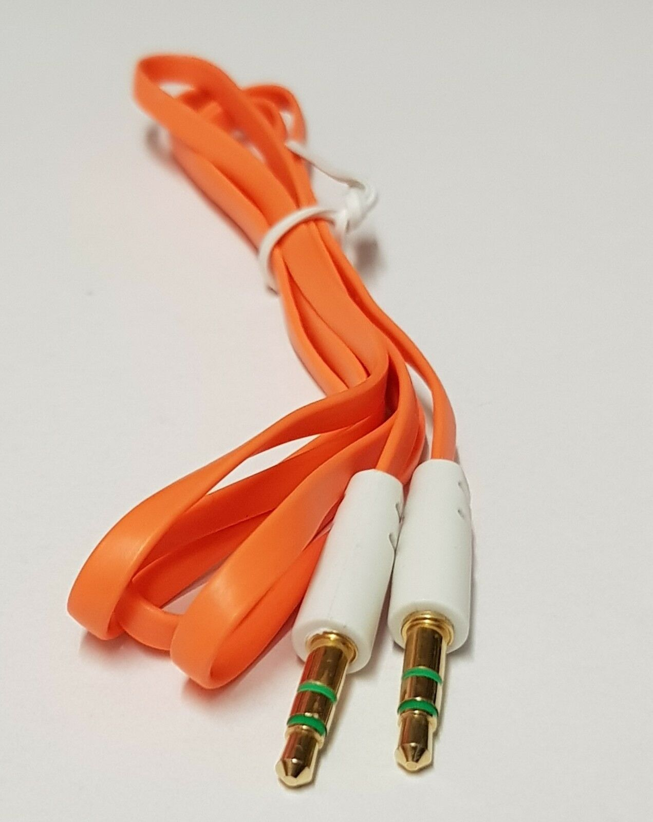 3.5mm TO 3.5mm CAR AUX AUDIO CABLE For iPhone Samsung LG Nokia iPod MP3 ORANGE