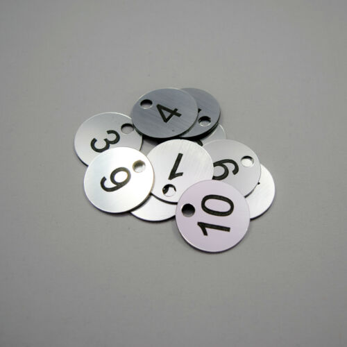 Pub Restaurant Table Clubs Locker 10 Laser Engraved Number Discs Tags