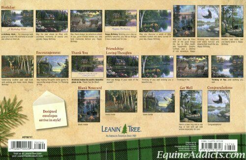 Made USA 20 Northwoods Outdoors Leanin Tree Greeting Cards Box Cabin Deer Elk.