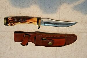 Vintage-Schrade-153UH-Knife-Hunting-Fixed-Blade-Uncle-Henry-Very-Nice
