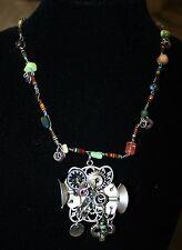 Multi-Color Steampunk Necklace ~ Clockwork Gears & Candles ~ Goddess Magii Webb