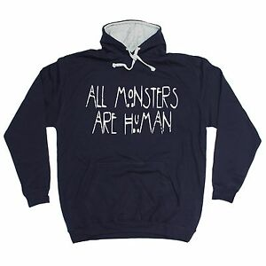 All-Monsters-Are-Human-HOODIE-hoody-birthday-gift-present-fashion-nerd-geek-top