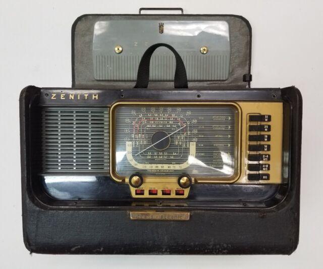 Vintage Zenith Trans-Oceanic H500 Radio ~ Works! SW and AM 1950's tube radio.