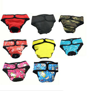 8Colors Washable And Reusable Large Big Dog Diapers Cartoon Puppy Under Pants
