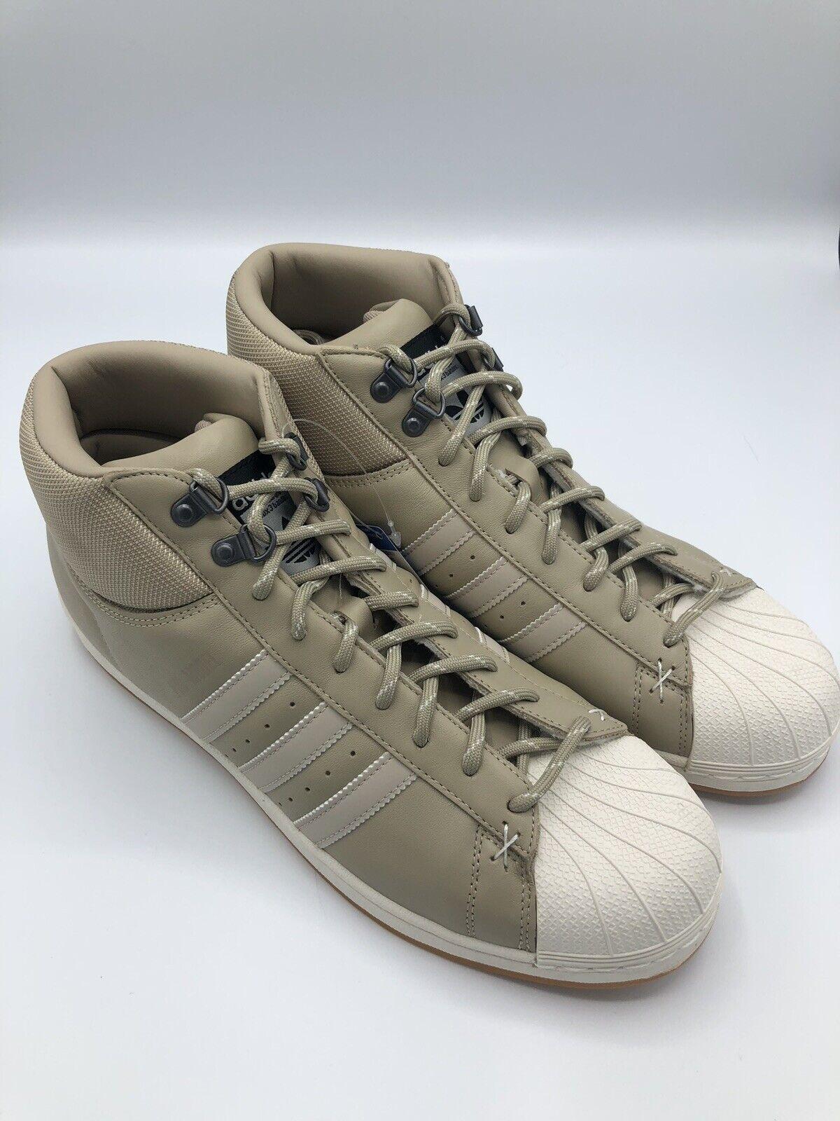 Adidas Pro shoes Model BT Hi Top Men Size 11.5 B39509 Originals Superstar Cream