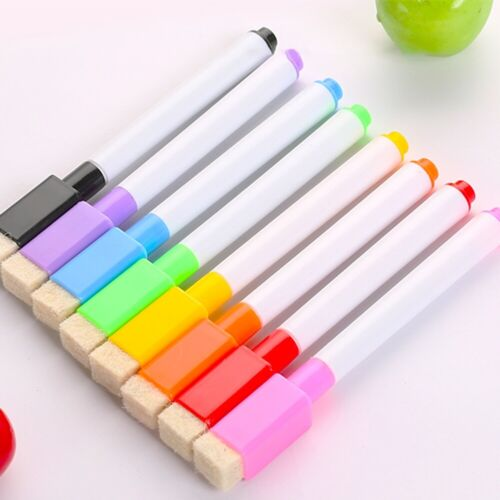 8 Colors Whiteboard Blackboard Marker Pens with Magnetic Eraser Drawing Neu Z9Y8