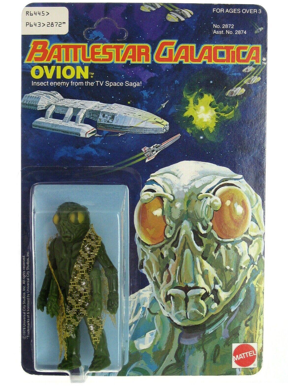 Vintage 1978 Mattel Battlestar Galactica Ovion Alien Sealed Mint on Card UNP MOC