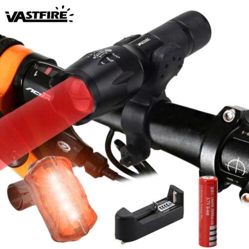 Zoomable 5000LM LED Rot Licht Taschenlampe Fahrradlicht Licht Montieren 18650