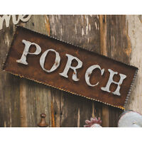 Country Primitive Rustic Porch Galvanized Rust Wood Wall Sign 23